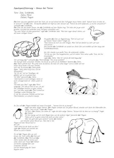 Inputgeschichte: Genus – Tiere