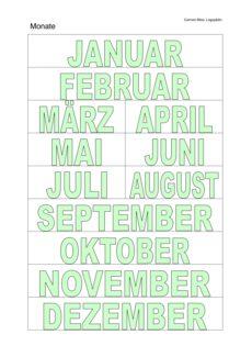 Wortkarten: Monate