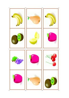 Spiel: Domino Obst