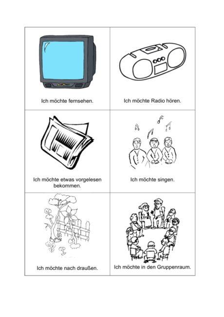 Kommunikationstafel Freizeit