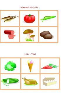 Spiel: Lotto Lebensmittel