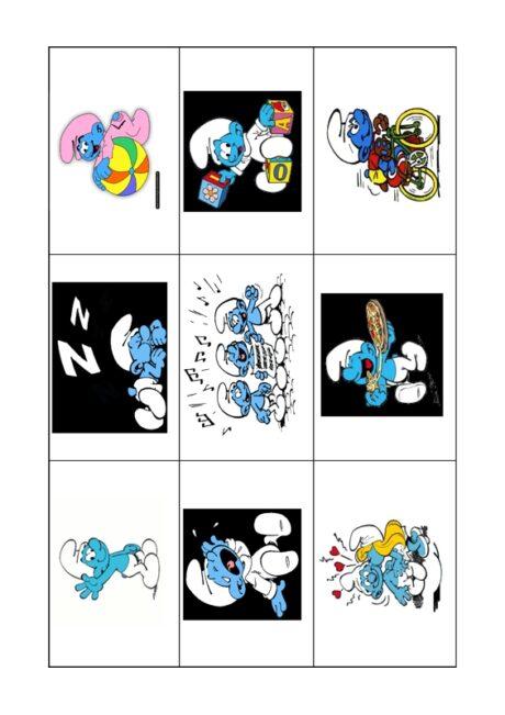 Spiel: Lotto mit den Schlümpfen