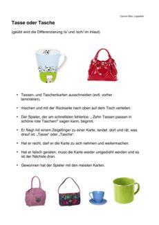 Diskrimination /s/ und /sch/ im Inlaut
