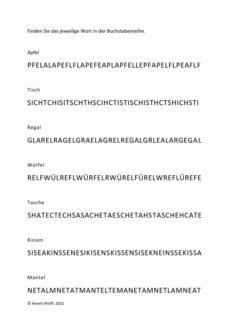 Worterkennung bei Dyslexie