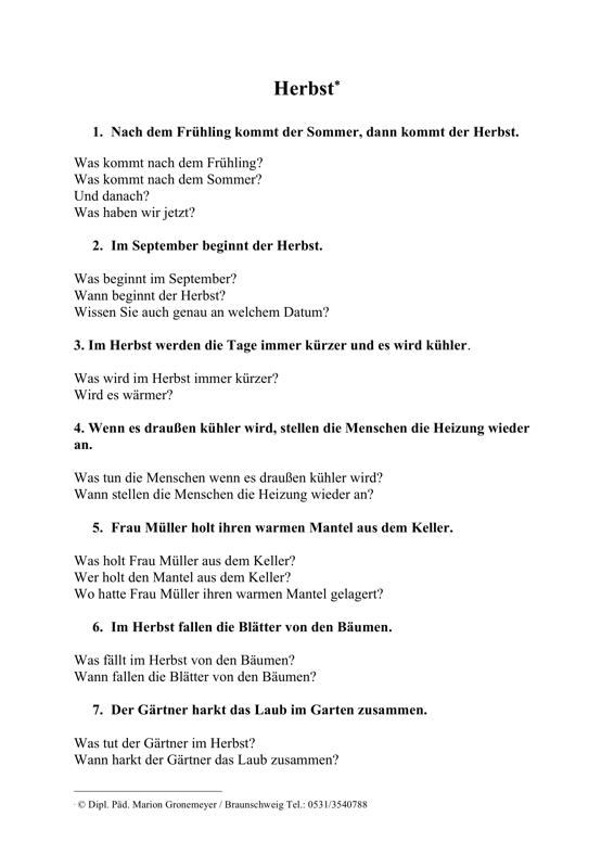R 252 Ckfragen Zum Thema Herbst Aphasie Madoo Net