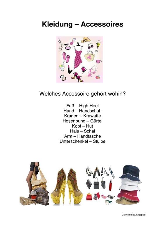 Spiel: Kleidung und Accessoires