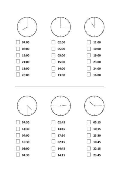 Uhrzeiten: richtig vs. falsch