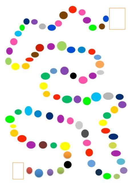 Spielfeld mit Farben - Kindersprache - madoo.net