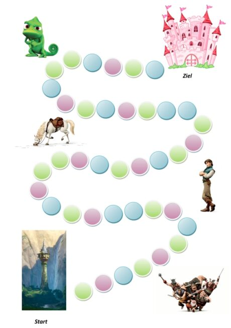 Prinzessin-Würfelspiel