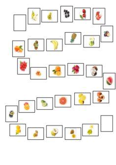 Spielfeld mit Obst