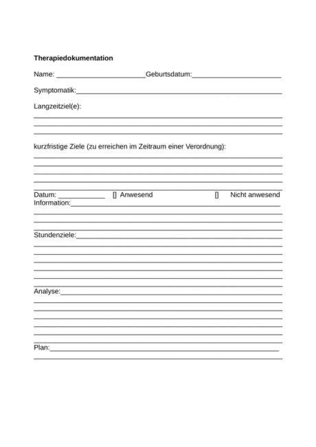 Therapiedokumentation