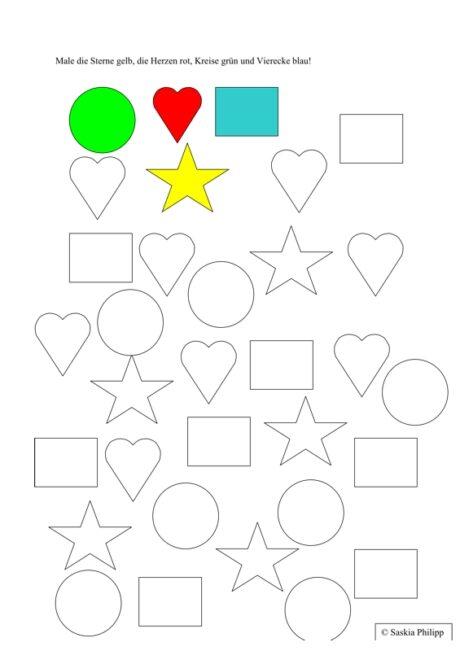 Exelent Kindergarten Formen Arbeitsblatt Motif - Kindergarten ...