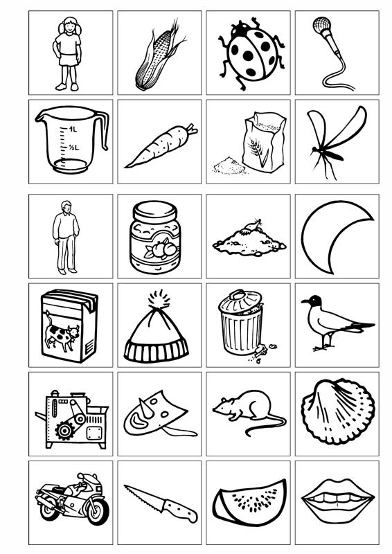 Sammlungen mit Bildkarten mit M im Anlaut - Dyslalie - madoo.net