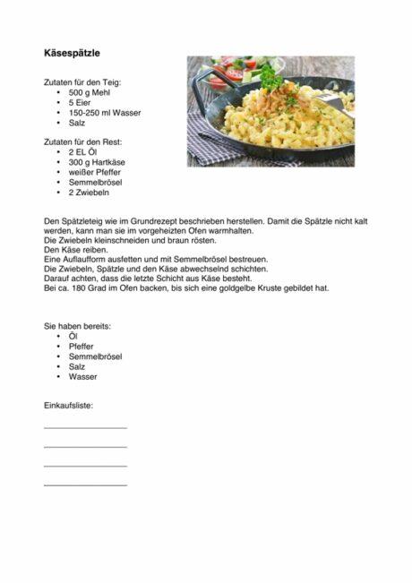 Alltagsorientierte Aphasie-Therapie: Käsespätzle