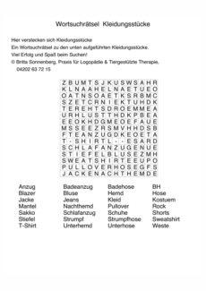 Wortgitter Adjektive Aphasie Madoo Net
