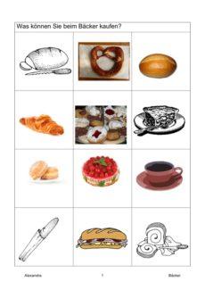 Semantisches Feld: Bäckerei