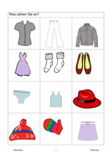 Semantisches Feld: Kleidung