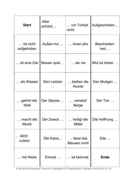 Sprichwörter-Domino für Aphasie-Patienten (2)