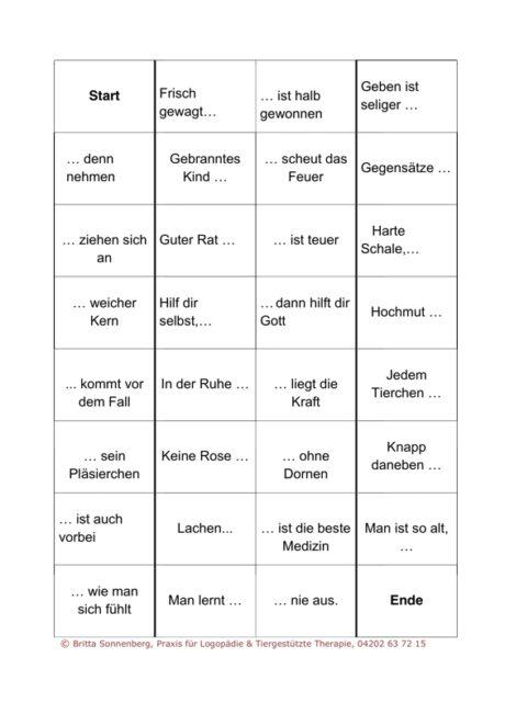Sprichwörter-Domino für Aphasie-Patienten (3)