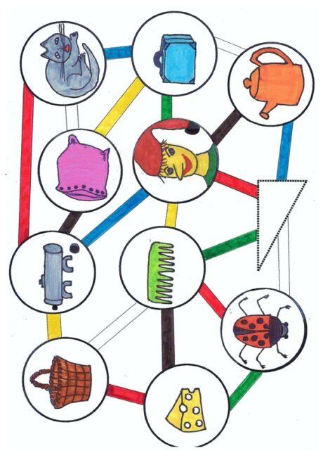 Farbwürfelspiel bei Kappazismus