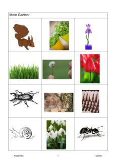 Semantisches Feld: Garten