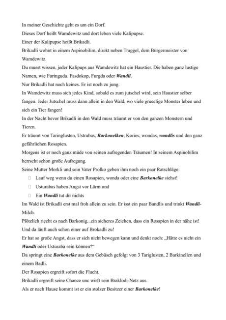 Pseudowort-Geschichte