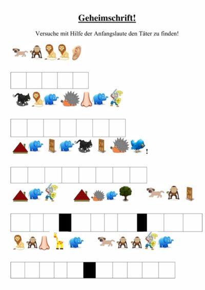 Spiel: Detektiv-Rätsel mit Anlauten