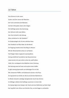 Sigmatismus: Sätze mit /z/
