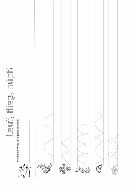 Graphomotorische bungen lauf flieg h pf for Vorschulaufgaben ausdrucken