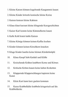 Sätze mit K