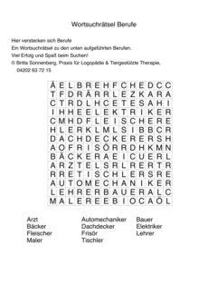Buchstabensalat Berufe