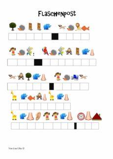 Spiel: Flaschenpost-Rätsel mit Anlauten