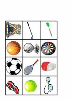 Memory im semantischen Feld Sport