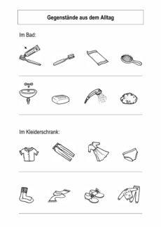 Gegenstände aus dem Alltag