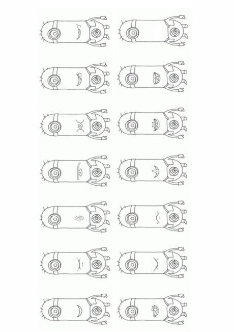 Mundmotorikkarten Minions