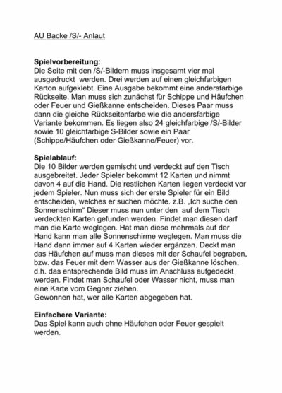 Sigmatismus-Spiel: Au Backe!