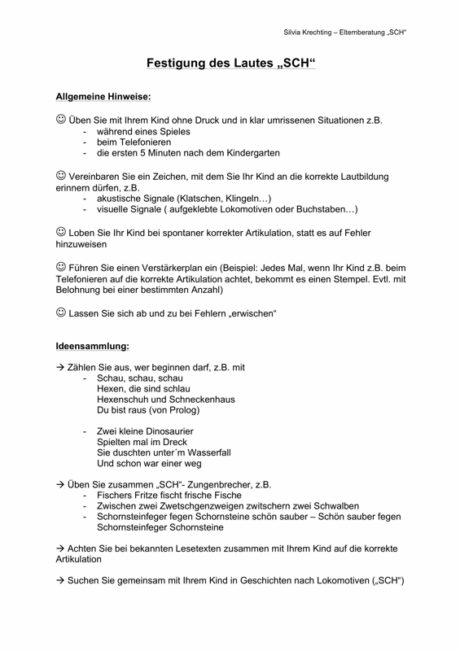 Elterninformation bei Schetismus