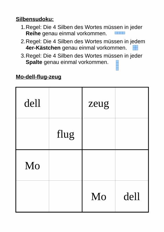 Silben-Sudoku