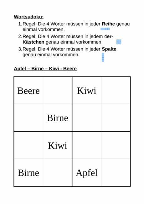 Wörter-Sudoku