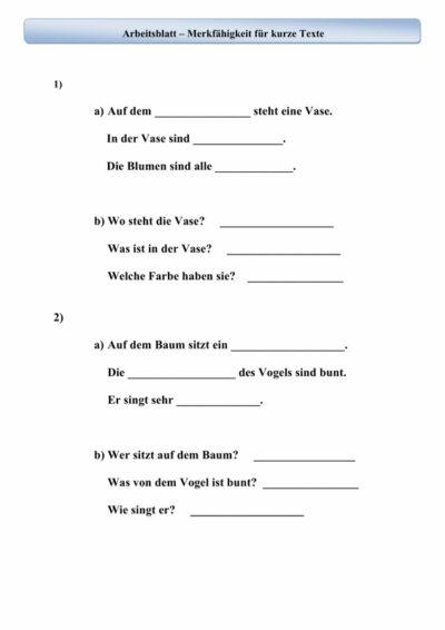 Merkspanne für kurze Texte