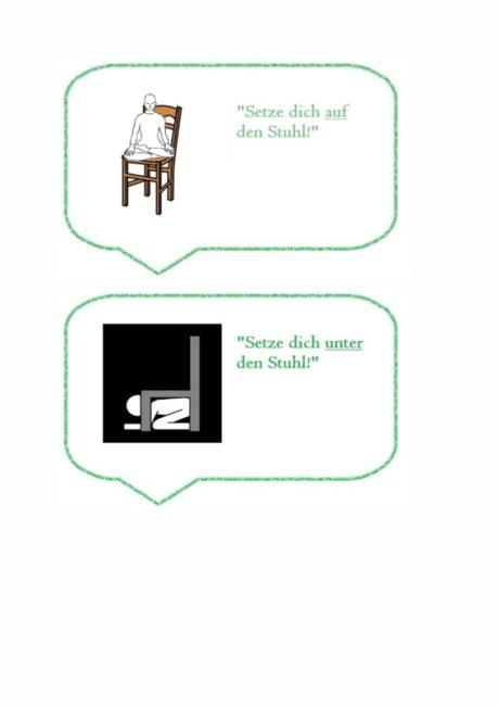 Aufgabenkarten zu Präpositionen
