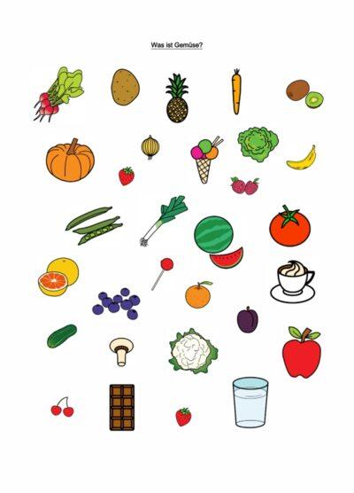 Wortschatzarbeit im semantischen Feld Obst und Gemüse