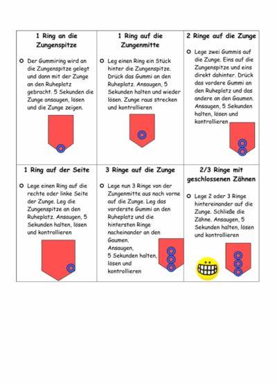 MFT-Übungskarten – Ansaugen mit Gummiring