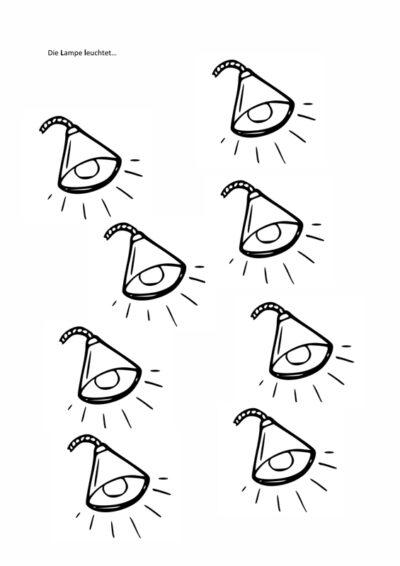 Die Lampe leuchtet – L auf Satzebene