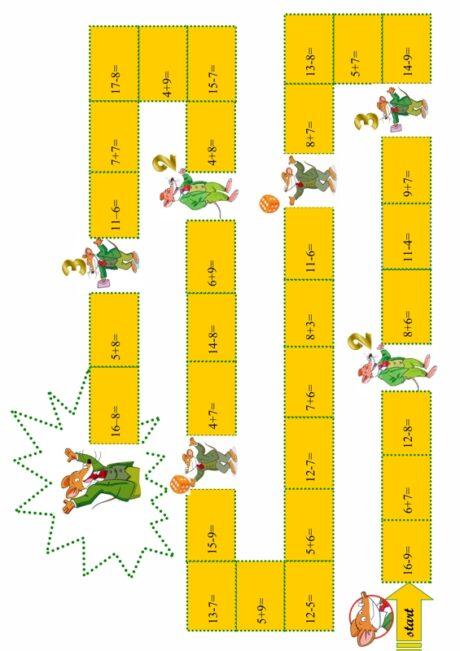 Spiel: Rechnen im Ganzzahlenbereich bis 20
