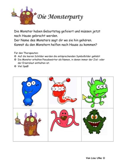 Spiel: Monster-Party