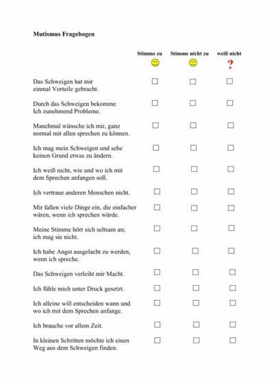 Mutismus-Fragebogen