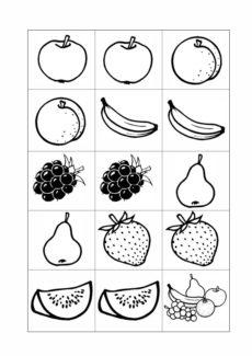 Memory-Karten – semantisches Feld Obst