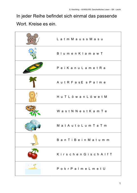 Ordne die Wörter mit i - LRS - madoo.net