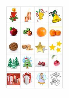 Bildkarten Plural zu Weihnachten
